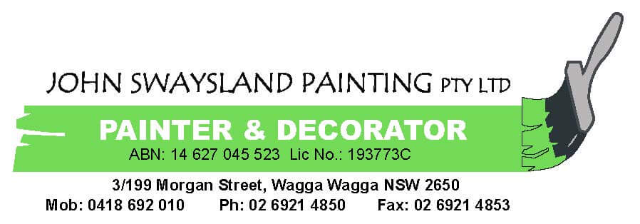 Local Painter in Wagga Wagga | John Swaysland Painting